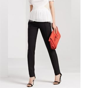 Jason Wu Stretch Gabardine Crop Pants  Black 6